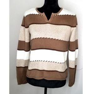 Crazy Horse Brown/Tan Petite Medium Sweater